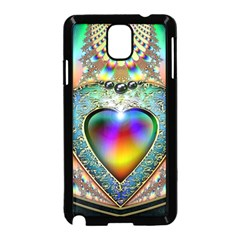 Rainbow Fractal Samsung Galaxy Note 3 Neo Hardshell Case (black)