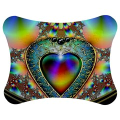 Rainbow Fractal Jigsaw Puzzle Photo Stand (bow)