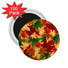 Autumn Leaves 2 25  Magnets (100 Pack)