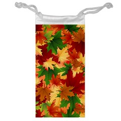 Autumn Leaves Jewelry Bag