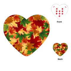 Autumn Leaves Playing Cards (heart)