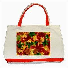 Autumn Leaves Classic Tote Bag (red)