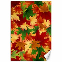 Autumn Leaves Canvas 12  X 18