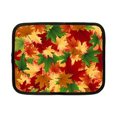 Autumn Leaves Netbook Case (small)