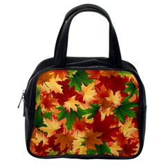 Autumn Leaves Classic Handbags (one Side)