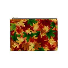 Autumn Leaves Cosmetic Bag (medium)