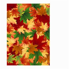Autumn Leaves Small Garden Flag (two Sides)