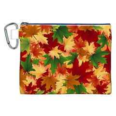 Autumn Leaves Canvas Cosmetic Bag (xxl)