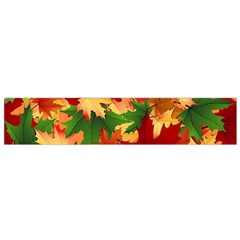 Autumn Leaves Flano Scarf (small)