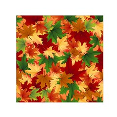Autumn Leaves Small Satin Scarf (square)