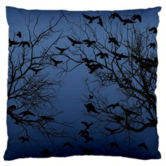 Crow Flock  Large Flano Cushion Case (two Sides)