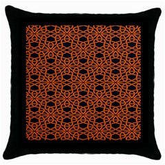 Triangle Knot Orange And Black Fabric Throw Pillow Case (black)
