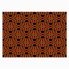 Triangle Knot Orange And Black Fabric Large Glasses Cloth