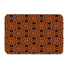 Triangle Knot Orange And Black Fabric Plate Mats
