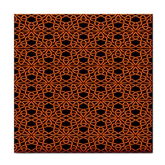 Triangle Knot Orange And Black Fabric Face Towel