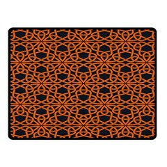 Triangle Knot Orange And Black Fabric Fleece Blanket (small)