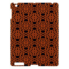 Triangle Knot Orange And Black Fabric Apple Ipad 3/4 Hardshell Case