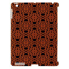 Triangle Knot Orange And Black Fabric Apple Ipad 3/4 Hardshell Case (compatible With Smart Cover)
