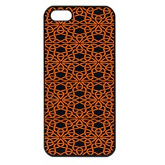 Triangle Knot Orange And Black Fabric Apple Iphone 5 Seamless Case (black)