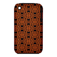 Triangle Knot Orange And Black Fabric Iphone 3s/3gs