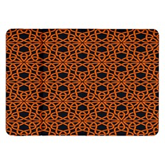Triangle Knot Orange And Black Fabric Samsung Galaxy Tab 8 9  P7300 Flip Case