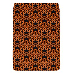 Triangle Knot Orange And Black Fabric Flap Covers (s)