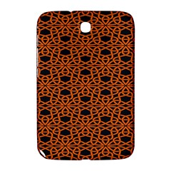 Triangle Knot Orange And Black Fabric Samsung Galaxy Note 8 0 N5100 Hardshell Case