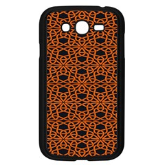 Triangle Knot Orange And Black Fabric Samsung Galaxy Grand Duos I9082 Case (black)