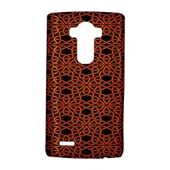 Triangle Knot Orange And Black Fabric Lg G4 Hardshell Case