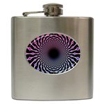 Spider Web Hip Flask (6 oz) Front