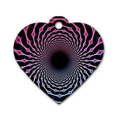 Spider Web Dog Tag Heart (one Side)