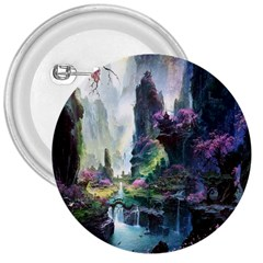 Fantastic World Fantasy Painting 3  Buttons