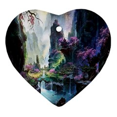 Fantastic World Fantasy Painting Ornament (heart)