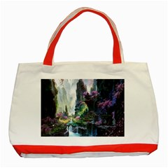 Fantastic World Fantasy Painting Classic Tote Bag (red)