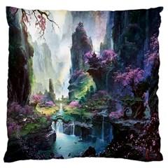 Fantastic World Fantasy Painting Large Cushion Case (one Side)