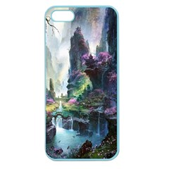 Fantastic World Fantasy Painting Apple Seamless Iphone 5 Case (color)