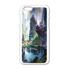 Fantastic World Fantasy Painting Apple Iphone 6/6s White Enamel Case