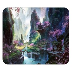 Fantastic World Fantasy Painting Double Sided Flano Blanket (small)