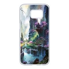 Fantastic World Fantasy Painting Samsung Galaxy S7 Edge White Seamless Case