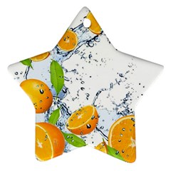 Fruits Water Vegetables Food Ornament (star)