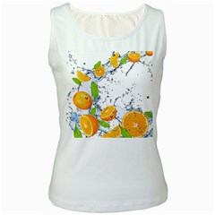 Fruits Water Vegetables Food Women s White Tank Top