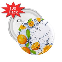 Fruits Water Vegetables Food 2 25  Buttons (100 Pack)