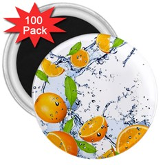 Fruits Water Vegetables Food 3  Magnets (100 Pack)
