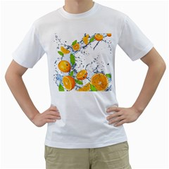 Fruits Water Vegetables Food Men s T Shirt (white) (two Sided)