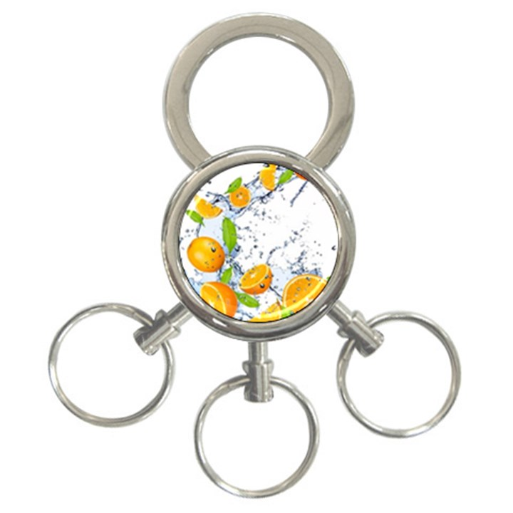 Fruits Water Vegetables Food 3-Ring Key Chains