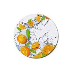 Fruits Water Vegetables Food Rubber Coaster (round)