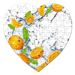 Fruits Water Vegetables Food Jigsaw Puzzle (heart)