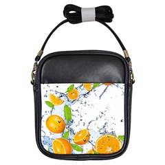 Fruits Water Vegetables Food Girls Sling Bags