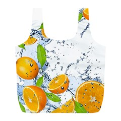 Fruits Water Vegetables Food Full Print Recycle Bags (l)
