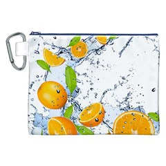 Fruits Water Vegetables Food Canvas Cosmetic Bag (xxl)